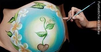 Belly Art Ili Umjetnost Ukrašavanja Trudničkog Trbuha