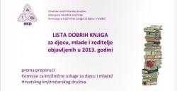 lista dobrih knjiga 2013
