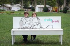 15.07.2016., Zagreb - Na zagrebackom Zrinjevcu postavljena je klupa Buddy bench za djecu.